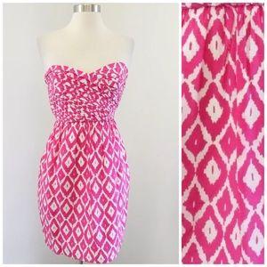 Shoshanna Strapless Silk Dress